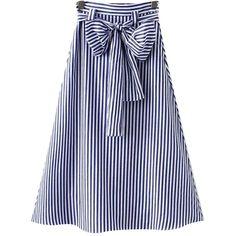Chicnova Fashion A-line Striped Dress (1.345 RUB) ❤ liked on Polyvore featuring dresses, high waist dress, slim fit dress, slimming dresses, striped dress and a line dress