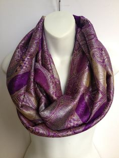pashmina infinity scarf loop scarf circle scarf  by ScarvesScene, $27.50