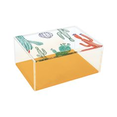 Contain desk clutter in this chic, desert-themed box. The Mojave Pencil Box will make a charming workspace addition for any succulent lover or desert native. This transparent acrylic box features a ful...  Find the The Mojave Pencil Box, as seen in the Vibrant Adobe Style Collection at http://dotandbo.com/collections/vibrant-adobe-style?utm_source=pinterest&utm_medium=organic&db_sku=109226