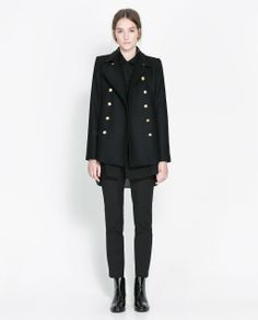 Image 1 of COAT WITH METALLIC BUTTON from Zara