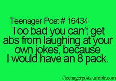 Because I am hilarious!