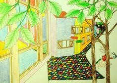 ✏️著色明信片 Postcard Painting  ✈️寄往:拉脫維亞  To: 🇦🇹Latvia  #Postcrossing #AmilyColorfulWonderland