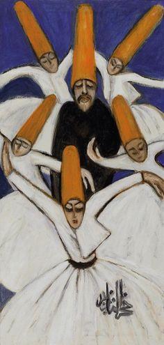 Islamic mysticism. Whirling dervishes. Fahrelnissa Zeid