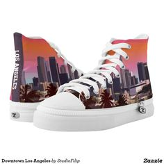 Downtown Los Angeles Printed Shoes