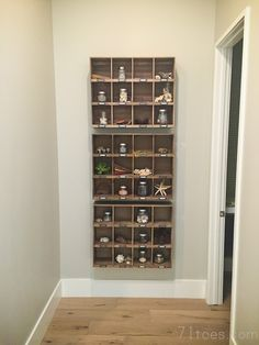 Cubbie Shelves from World Market to hold a little piece of places you have visited