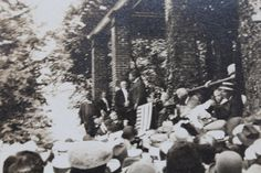Gettysburg From The Archives: Original unpublished photograph of Teddy Roosevelt speaking at The Gettysburg National Cemetery Memorial Day 1912. Please like and share but do not copy without proper credit: The Gettysburg Museum Of History archives.