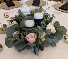 Ring of eucalyptus and roses.  At Trump National Golf Course in Charlotte, NC.