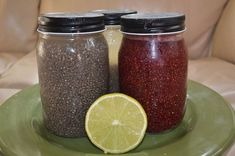 These chia seed recipes are very similar to drinks sold in health food stores. Mama Chia and Synergy Kombucha are two of them. They are wonderful, but very expensive, and a lot of them are loaded … Water Recipes, Real Food Recipes, Vegan Recipes, Cooking Recipes, Chi Seed Recipes, Healthy Drinks, Healthy Snacks, Healthy Eating, Chia Drink