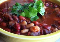 Bloody Mary Chili  http://www.meatlessmonday.com/bloody-mary-chili/
