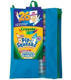 Crayola Pip-Squeaks Mini Washable Markers-Assorted Colors