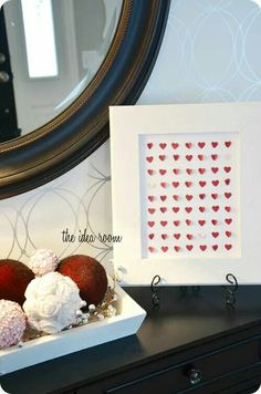 Little hearts framed
