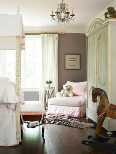 Gray Paint with pink accessories
