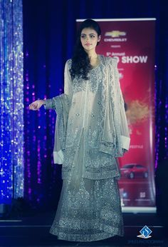 Gorgeous beading!  Model walks the ramp in the 5th Annual Suhaag Show held in Ottawa on November 24th, 2013. Photo by: Smiles Photography #southasian