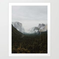Art Print featuring Yosemite Fog by Kevin Russ
