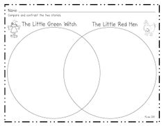 The Little Green Witch and The Little Red Hen...make text to text connections.