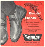 Winthrop Leisure Boots 1959 Ad Picture