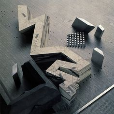 Model for the Jewish Museum  Daniel Liebeskind  1999