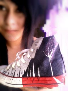 Sleeping With Sirens Converse...best back to school shoes you will ever see ;D