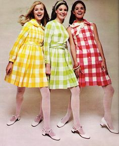 March 1968 Seventeen Magazine ~ Gingham Fashion …