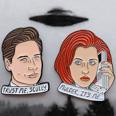 """Each pin is 1.25"""" tall. Soft enamel, rubber backing. THE TRUTH IS OUT  THERE. Will be restocked by Jan 2016!"""