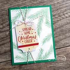Tin of Tags Stamp set is perfect for holiday cards too ~ Cindy Schuster