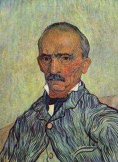 Vincent van Gogh - Portrait of Trabuc - An Attendant at Saint-Paul Hospital    1889