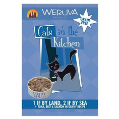 1 If By Land 2 If By Sea Wet Cat Food Box of 8 Pouches -- To view further for this item, visit the image link.