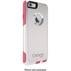 OtterBox - Commuter Series Case for Apple® iPhone® 6 - Neon Rose - Angle