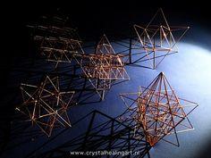 The merkaba, 64 tetrahedron grid, stellated icosadedron and merkiva http://www.crystalhealingart.nl/