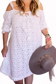 ROBE BRODERIE ANGLAISE GRANDE TAILLE