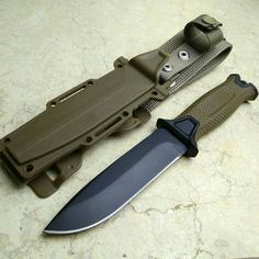 Hunting Fixed Knives, 7Cr17Mov Blade Hunting Fixed Knives Serrated Blade G10 Handle Survival Knife Tactical with K Sheath #survivalknife