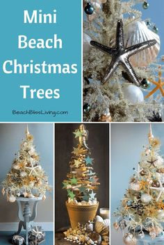 The Most Marvelous Mini Beach Christmas Trees