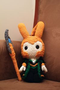 Loki, the God of Mischief Doll - Free Amigurumi Pattern here: http://goldenjellybean.com/youtube/about/how-to-make-loki-the-god-of-mischief/