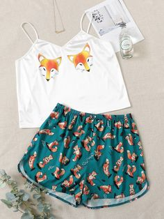 Cute Pajama Sets, Cute Pajamas, Pj Sets, Cute Girl Outfits, Outfits For Teens, Summer Outfits, Sleeping Gown, Ropa Interior Babydoll, Cute Sleepwear