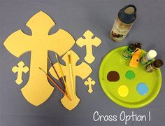 Paintable Wooden Crosses DIY Craft Wall Decor