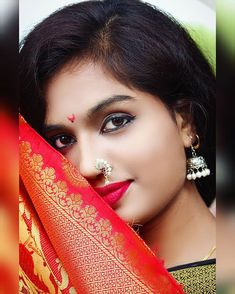 Kashta Saree, Sari, Indian Girls Images, Glamorous Makeup, Saree Look, Most Beautiful Indian Actress, Saree Styles, Indian Actresses, Septum Ring