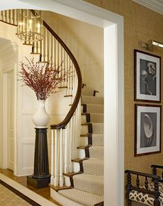 The stairs seem to fit into a small area. South Shore Decorating Blog: Design Crush: Roughan Interiors