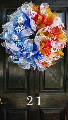 House Divided Large Mesh Wreath One City Two by DesignTwentyNineSC