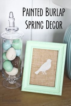 21 DIY spring decor ideas that are really beautiful and bright! Make your home look amazing this Spring with these DIY spring decor ideas! Burlap Crafts, Decor Crafts, Diy And Crafts, Room Crafts, Spring Projects, Spring Crafts, Diy Projects, Project Ideas, Easter Projects
