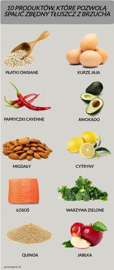 Włącz do swojej diety te 10 produktów a na pewno spalisz niepotrzebną tkankę tłuszczową Healthy Food Blogs, Healthy Tips, Healthy Lifestyle, Healthy Eating, Healthy Recipes, Great Recipes, Health Diet, Health Fitness, Bone Health