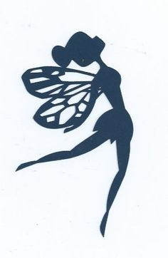 Fairy silhouette by hilemanhouse on Etsy, $1.99