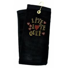 Got Golf Gifts - Only golf here! Golf Towels, Golf Gifts, Black Crystals, Reusable Tote Bags, Live, Clothes, Fashion, Tall Clothing, Moda