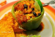Southwest Quinoa Stuffed Pepper at Miz Helen's Country Cottage