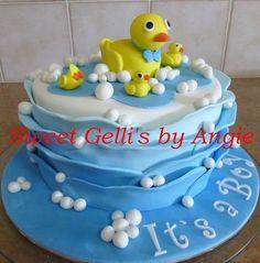 Baby Shower Duck Themed Cake