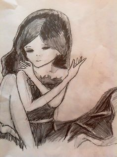 This is a drawing inspired by the song and music video, Helena by My Chemical Romance.