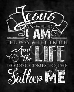 Scripture Art  John 14:6 Chalkboard Style by ToSuchAsTheseDesigns