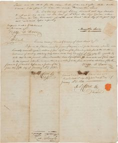 A document bearing the signatures of both Meriwether Lewis and William Clark (the only known document with both signatures known to exist in private hands)