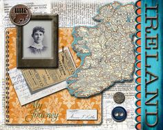 digital heritage collage layout