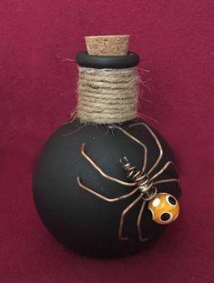 New Mercury Glass Bottle Ornament Halloween Bat Bethany Lowe Poison Eyeball