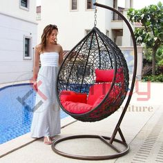 Source Cheap Price Patio Resin Wicker Hanging Egg Shaped Garden Chair with Stand on m.alibaba.com
